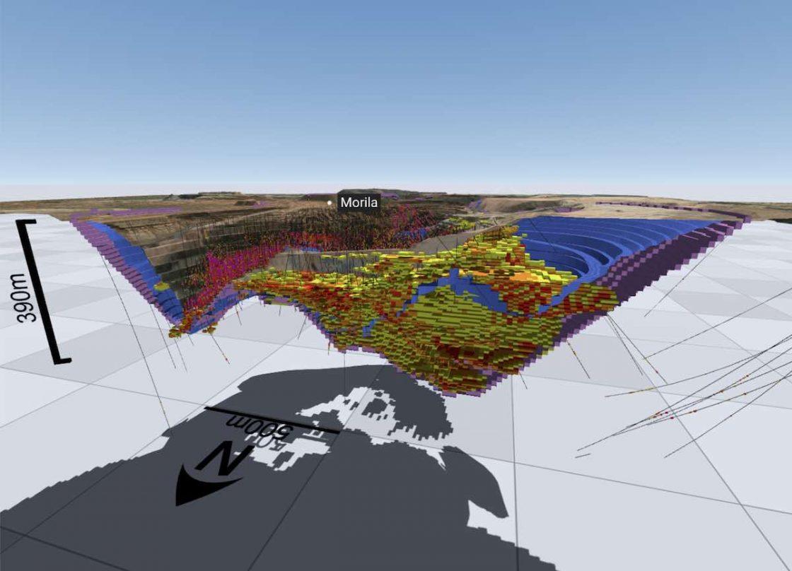3D model of the Morila Gold Mine