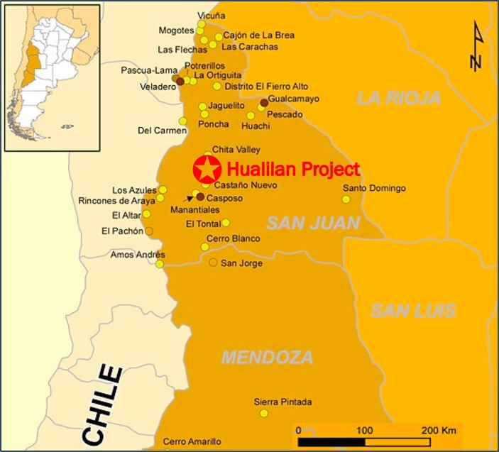 Hualilan Project Location