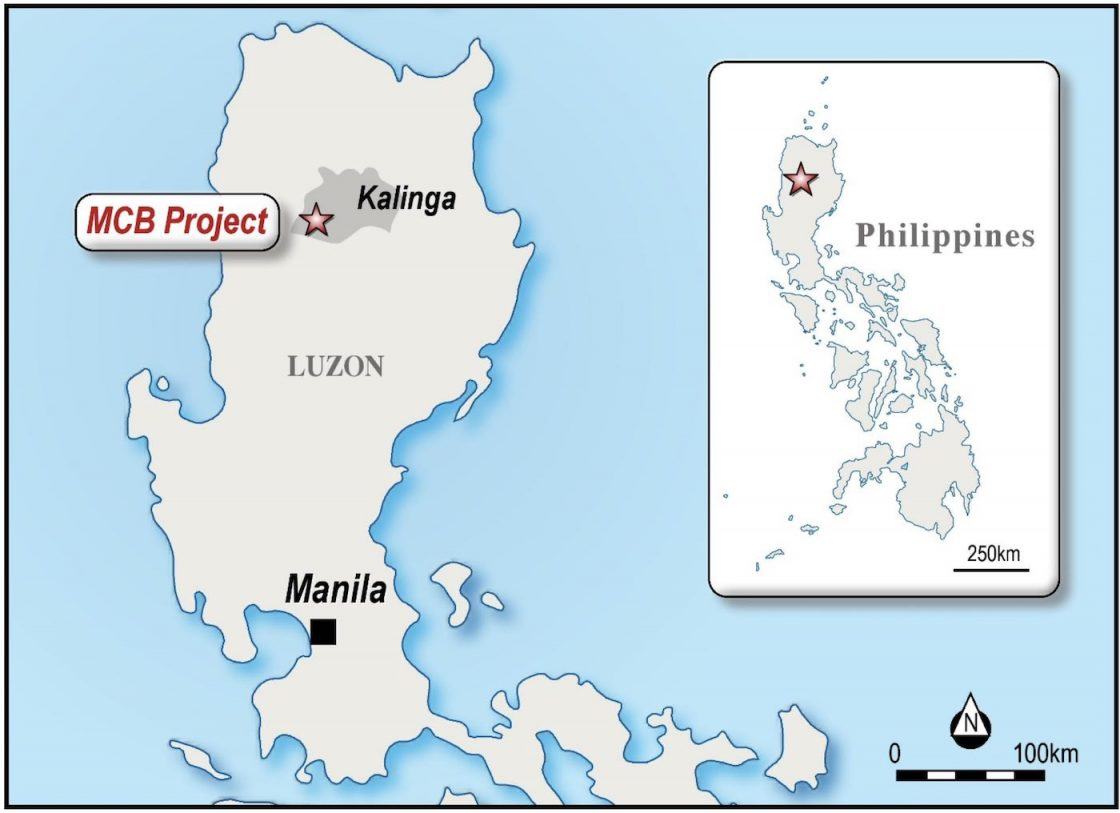 Map displaying location of the MCB Project in the province of Kalinga, Northern Luzon, Philippines