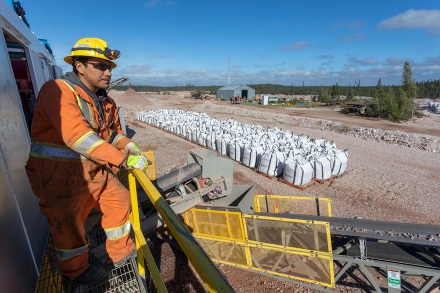 High-grade ore bagged and ready for shipment to the Saskatoon Rare Earths Hub